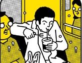 manger dans le métro