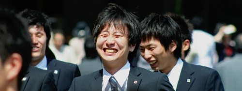 Jeune salaryman japonais