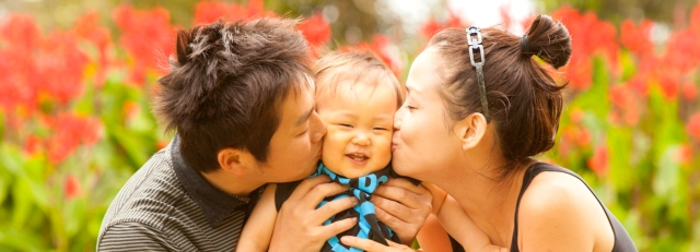Famille japonaise heureuse